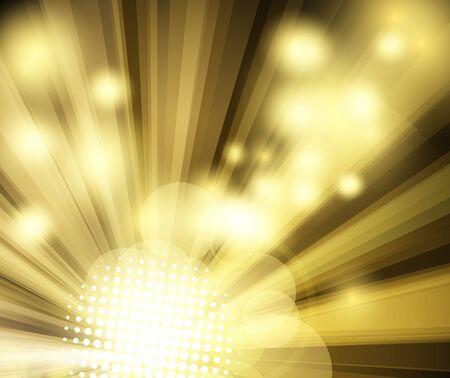 Golden bright disco club background. Vector illustration Stock Illustration - 8986512