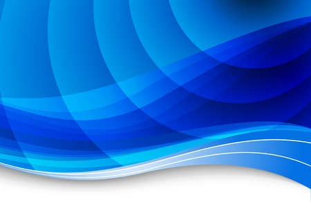blue ray: Blue waves background. Vector illustration