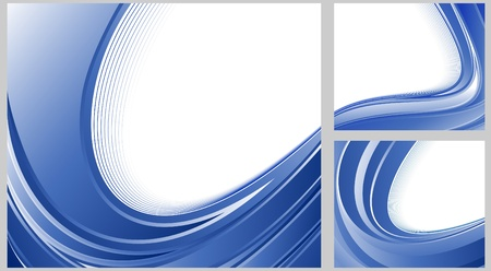 certify: Certificate blue backgrounds collection. Vector illustration
