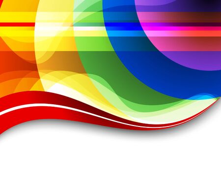 Colorful rainbow background. Vector illustration Vector