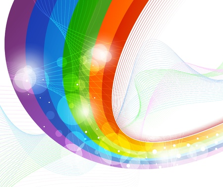 Rainbow wave - background template. Vector illustration Vector