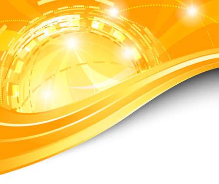 Orange futuristic background - energy. Vector illustration Stock Vector - 9506530