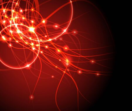 shimmer: Red wire - internet background. Vector illustration Illustration