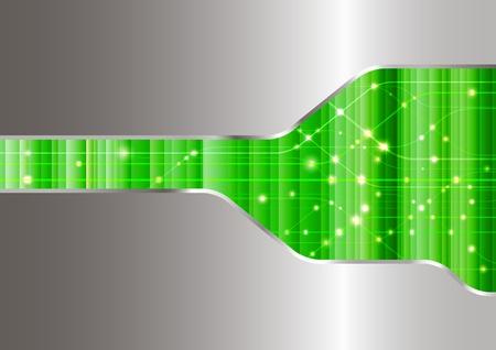 Fondo verde ordenador. Ilustración vectorial