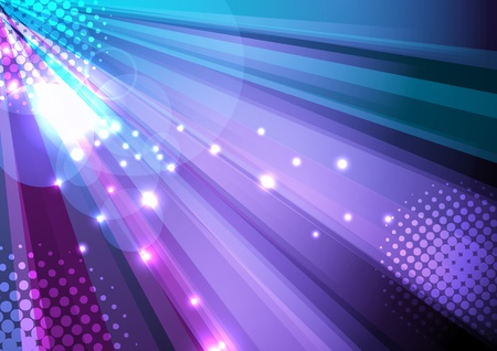 Party and disco background - ray light. Vector illustration Vector