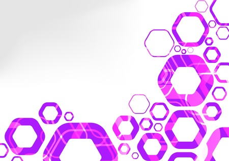 Hexagon futuristic background abstraction  Vector illustration Vector
