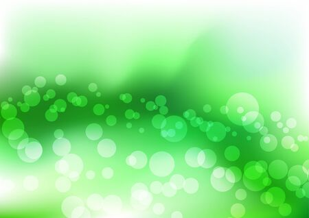 Green water liquid. Vector illustration Vector