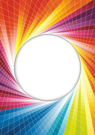 Rainbow spring background - circle. Vector illustration Vector