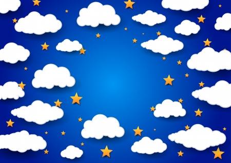 lullaby: Cielo de fondo con un espacio en blanco. ilustraci�n