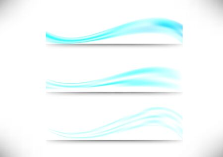 Headers collection - liquid stream.    Vector