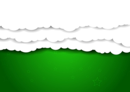 communicative: Clouds over green sky - background     Illustration