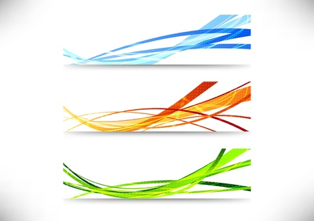 Web bright headers collection  Vector illustration Vector