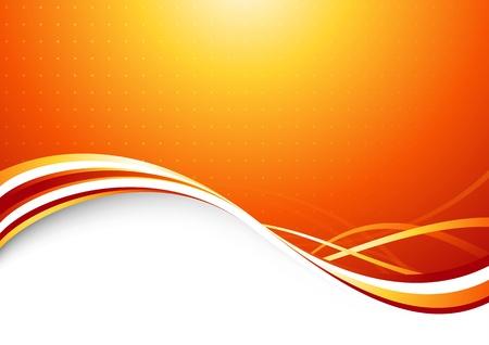 Orange sunburst - abstract futuristic background   illustration