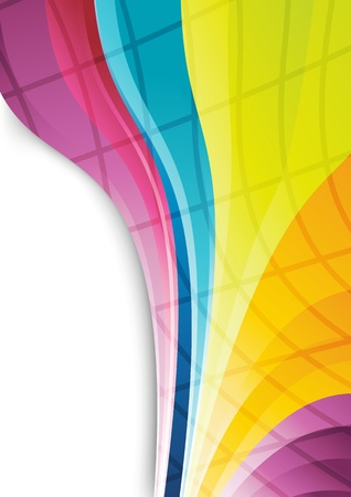 Rainbow lines - abstract background   illustration Vector