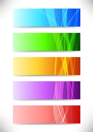 Abstract web headers - collection of cards illustration Vector