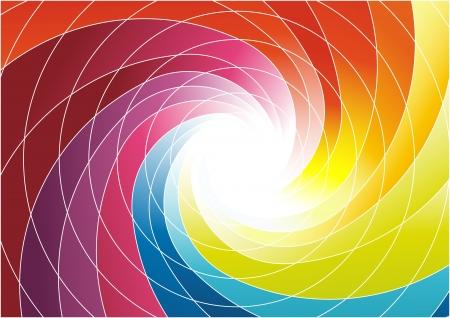 week end: Rainbow spiral - brillante colorido ilustraci�n de fondo