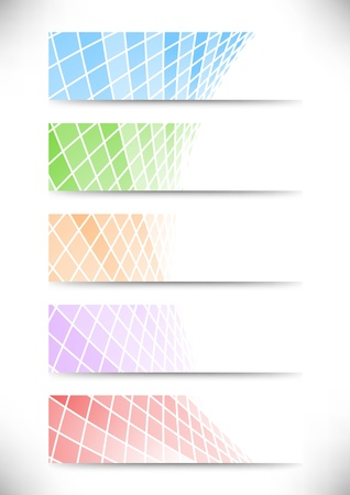 Halftone communicational headers or cards collection illustration