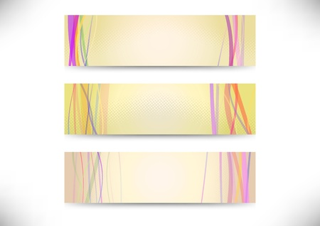 Web headers with lines - collection illustration Vector