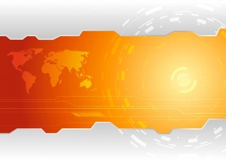 hitech: Hi-tech wallpaper template  illustration Illustration