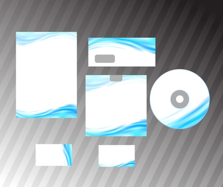 Corporate style idea - blue abstract wave  Vector illustration
