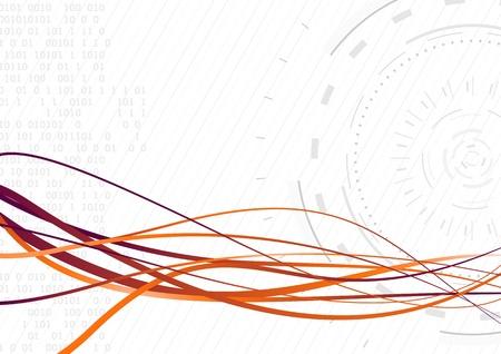 Streamed futuristic wave - rapid data transfer  Vector illustration Stock Vector - 19722827