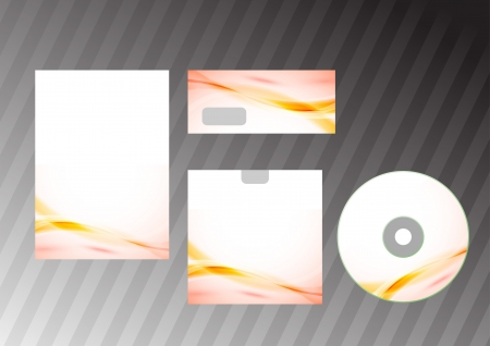 artisitc: Business concept - corporative style template  Vector illustration