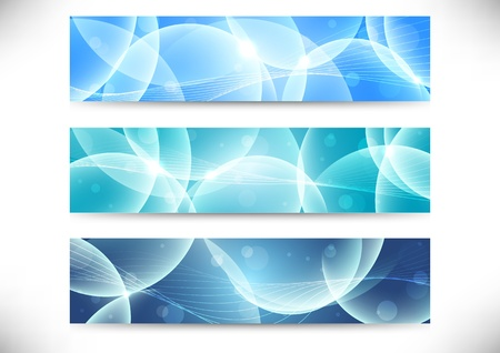 Collection of transparent headers  Vector illustration Vector