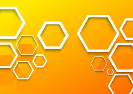 Geometrical hexagon background template  Vector illustration Vector