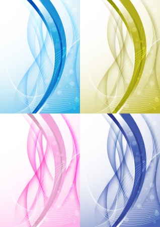 Transparent background with abstract wave collection  Vector illustration Vector