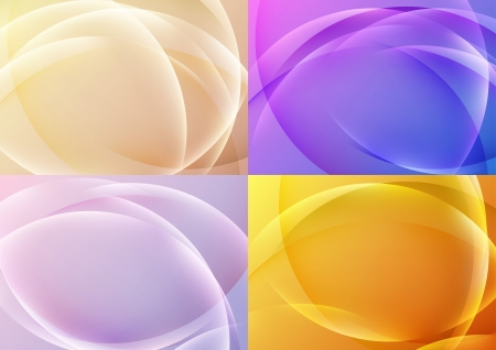 Bright abstract halftone backgrounds collection  Vector illustration Vector