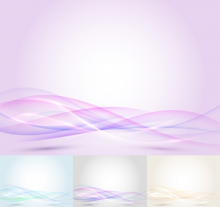 Colorful transparent wave - abstract background  Vector illustration Illustration