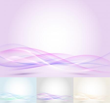Colorful transparent wave - abstract background  Vector illustration Ilustração