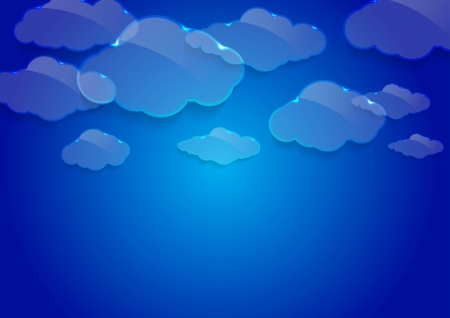 Dream glass clouds background. Vector illustration Vector