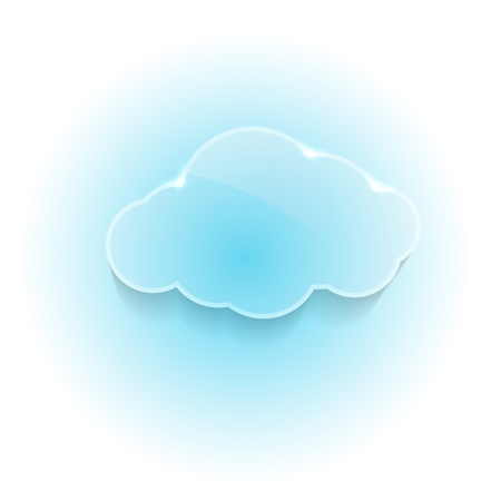 Glossy shiny dream cloud. Vector illustration Vector
