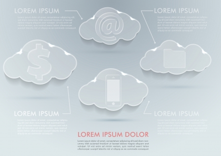 New technologies - cloud computing advantages. Vector illustration Vector