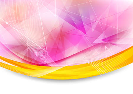 Colorful transparent banner with border  Vector illustration Vector