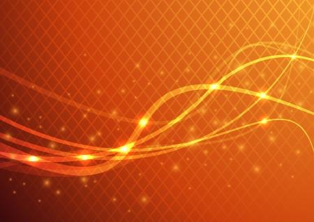 Fond orange abstrait - énergie épanouissement Vector illustration Vecteurs