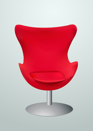 Red chair for the VIP. Vector illustration Stock Vector - 25041828