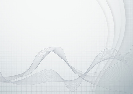 certificate background: Wave abstraction - smoke or flow. Vector illustration Illustration