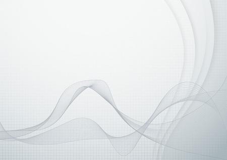 Wave abstraction - smoke or flow. Vector illustration Ilustração