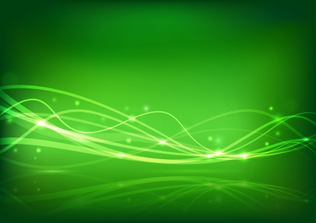 Transparent energy wave - abstract banner  Vector illustration Vector