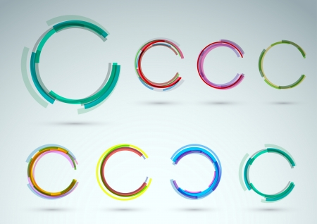 Collection of rings for advertising. Vector illustration