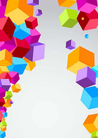Colorful cubes make a background. Vector illustration Vector