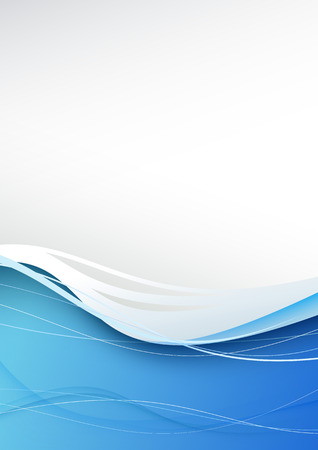 Blue wave abstract modern background. Vector illustration Vector