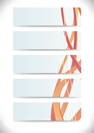 swooshes: Collection of business cards with swooshes. Vector illustration Illustration