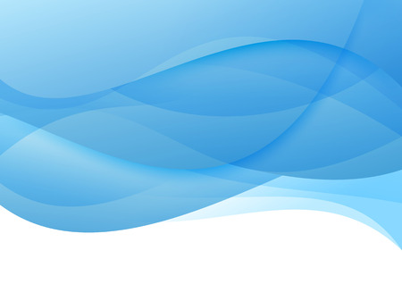 Abstract blue waves - modern background. Vector illustration
