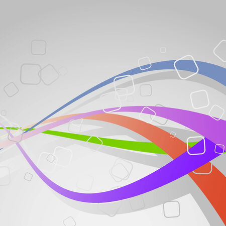 Colorful bright swoosh lines - background template. Vector illustration Vector