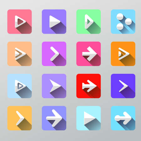 Set arrow icons - flat UI for web and mobile. Vector illustration Vector
