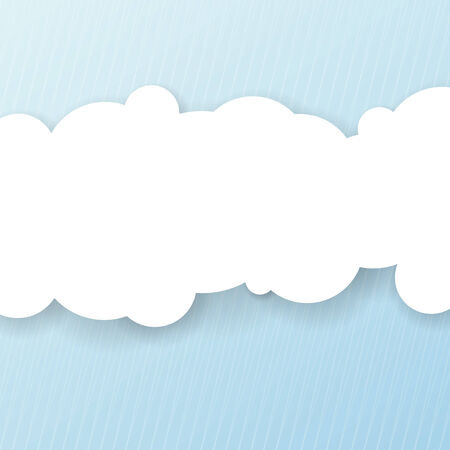 cloud vector: Abstract background with white cloud for message. Vector illustration