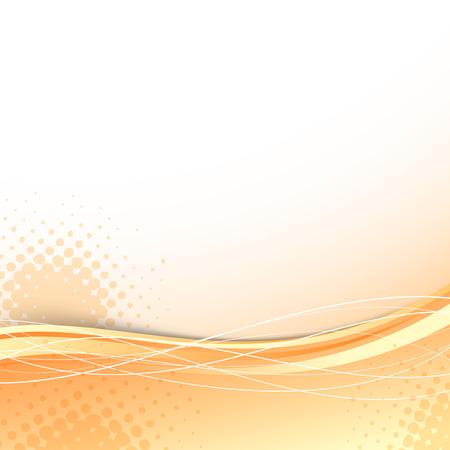 Transparent orange wave background template. Vector illustration